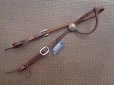 WEAVER Heavy Oiled Leather Western Horse Headstall w Longhorn Concho