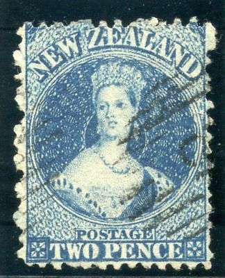 New Zealand 1865 QV 2d pale blue (Plate II) very fine used. SG 114.