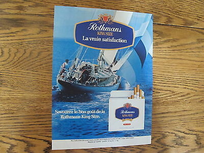 Rothmans Cigarette Print Ad Clipping 1984