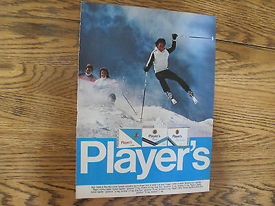 Players Cigarette Print Ad Clipping,skier 1985
