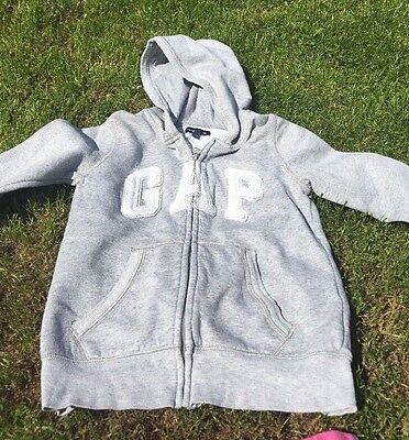 Girls GAP hoody Marl Grey Age 8-9