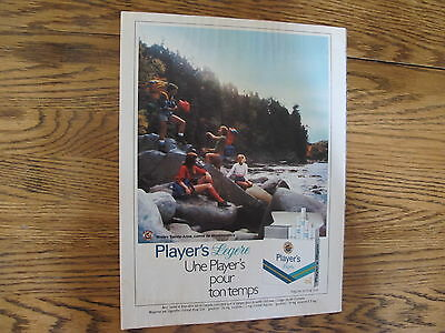 Players Cigarette Print Ad Clipping, 1980