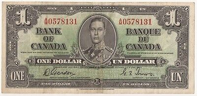 CANADA  1937  $1.   NOTE  A/M 0578131     Gordon/ Towers