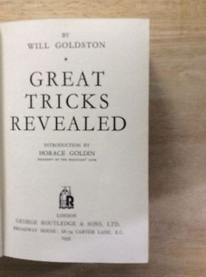 Great Tricks Revealed - Will Goldston - Magic - Signed  -  Hb