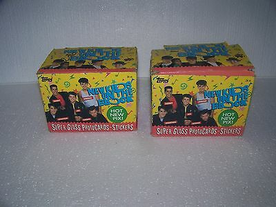 Vintage 1989 Topps NKOTB New Kids on The Block 2 Boxes 24 Sealed pack loose card