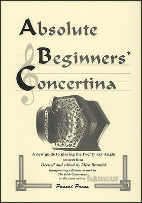 Absolute Beginners Concertina Learn How to Play 20 Key Anglo Tutor Method Book