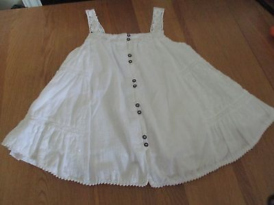 Girls Next White Summer Top Fully Lined Age 7 Very Pretty