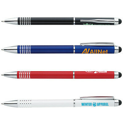 Metal Laser Engrave Blue Ink Stylus Pen Personalized Promotion Marketing Giveway
