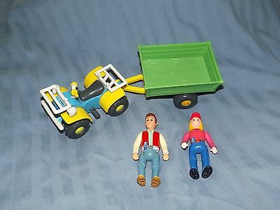 Tractor Tom Toys Matt Fi Buzz and trailer springfield farm FREE UK POST &TRACTOR