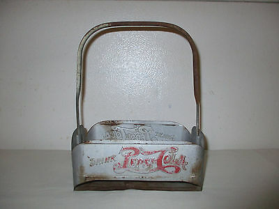 Vintage Metal Pepsi-Cola Bottle Carrier