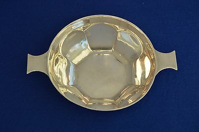 Solid Sterling Silver Quaich Drinking Bowl - Sheffield 1932 - Scotland Scottish