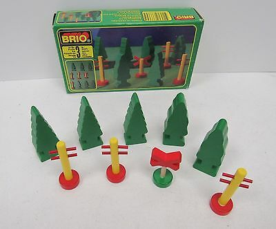 Vintage BRIO Accessories for the Wooden Railway Trees Towers Boxed - DOW L62
