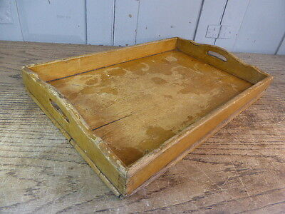 Antique wooden pine serving tray