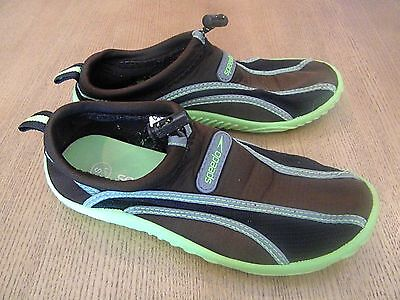 SPEEDO Water Beach Pool Shoes Boys Girls Youth Brown Black Green Small (13/1)