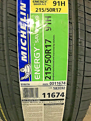 4 New 215 50 17 Michelin Energy Saver A/S Tires