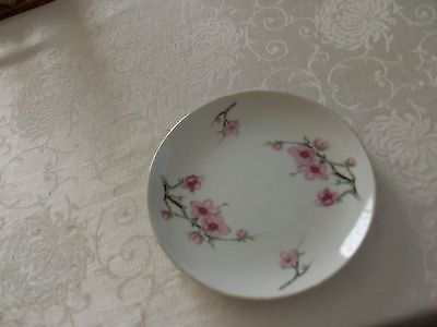 "Cherry Blossom Diamond China 6 3/8"" Side Plate - Made in Japan"