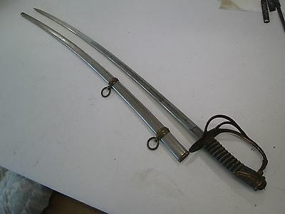 Us Officers Model 1872 Cavalry Sword With Scabbard Makers Mark & Etched Blade