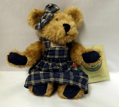 """BOYD'S BEARS - """"CLEMENTINE"""" FULLY JOINTED COLLECTABLE TEDDY BEAR WITH TAG 34i"""