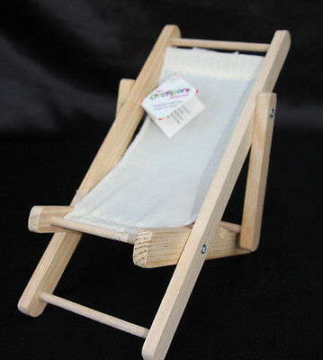 The Outfitter Collection Miniature Deck Chair Accessory for Beanie Babies
