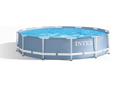 Large Family Swimming Pool Intex Prism Extra Strong Frame Round 10ft 12ft & Pump