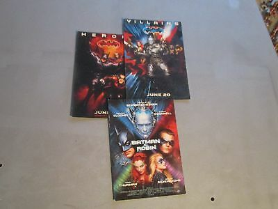 batman and robin movie postcards x3