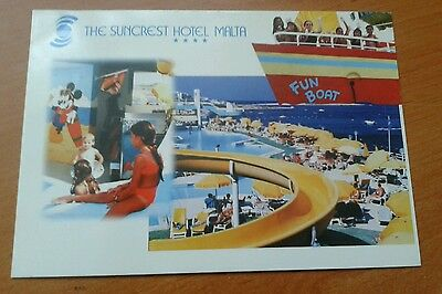 Picture postcard of The Suncrest Hotel Malta unposted