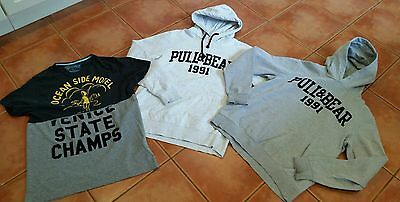 Mens Pull and Bear Hoodie and T-Shirt Bundle size Medium
