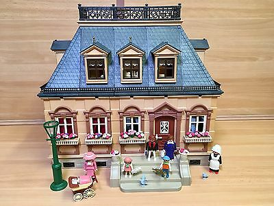 Playmobil Victorian House Fully Furnished & Figures Vintage 5300 5305 Mansion