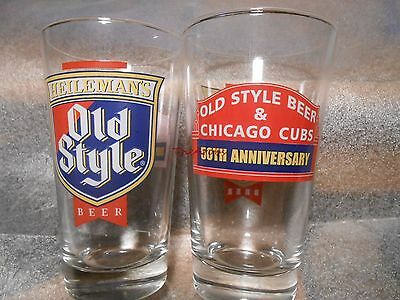 Old Style Beer & Chicago Cubs 50th Anniversary Wrigley Field Marquee Pint Glass