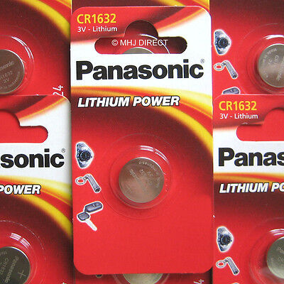 2 x PANASONIC CR1632 CR 1632  ECR1632 Lithium Batteries Coin Cell Use By 2027