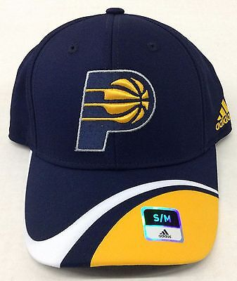 ee379263 NBA INDIANA PACERS Adidas Structured Flat Brim Flex Fit Cap Hat NEW ...