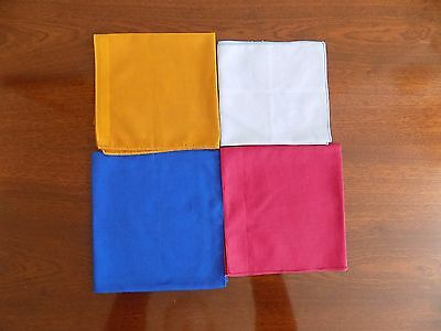 "Vintage ""LADIES HANKIES"". FOUR (4) DIFFERENT COLOURS - Polyester ?"