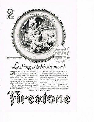 FIRESTONE Most Miles per Dollar 1922 Ad