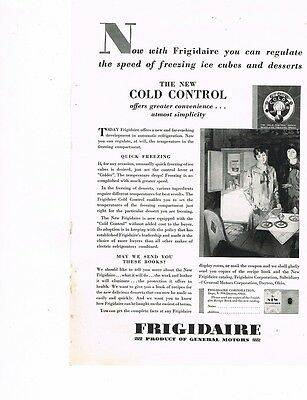 """FRIGIDAIRE """"Greater Convenience' 1929 Ad"""