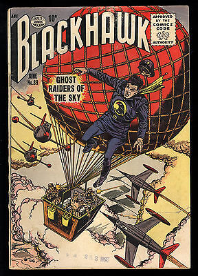 Blackhawk (1944) #89 1st Print Quality Comics Super Communists Sci-Fi Good+