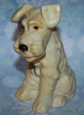 Art Deco Vintage Cute Terrier Dog Plaster Figure Sylvac Style Wartime Dogs Old