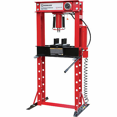 Strongway Air/Hydraulic Shop Press with Gauge - 40-Ton Capacity