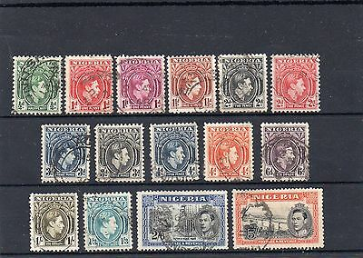 Nigeria 1938 set less 2.5d good to fine used. Cat £65