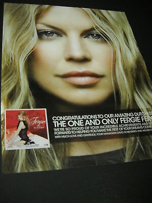 FERGIE The One And Only FERGIE FERG Promo Poster Ad