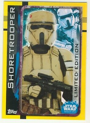 Topps Star Wars Rouge One Limited Edition Shoretrooper LEPP
