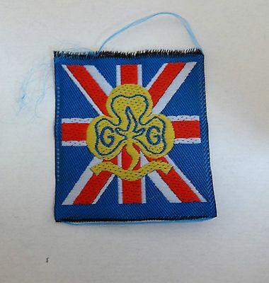 Uk Girl Guides: Mint Pre 1994 United Kingdom Silk-Type Badge/patch