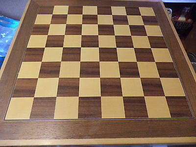 Vintage hand made inlaid wooden chess board