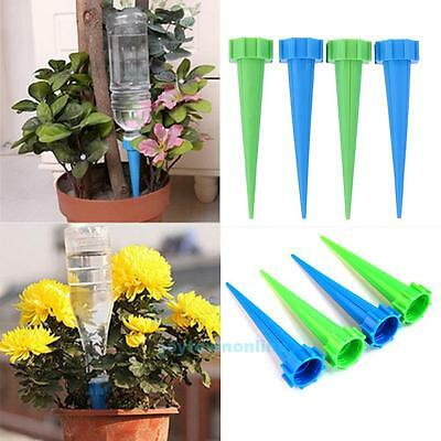 4 X Automatic Garden Cone Watering Spike Plant Flower Waterers Bottle Irrigation
