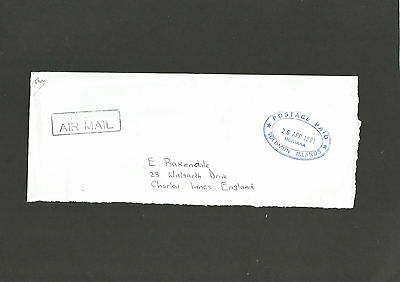 Honiara Postage Paid Cachet 26 Apr 1981 On Cover To U.k.