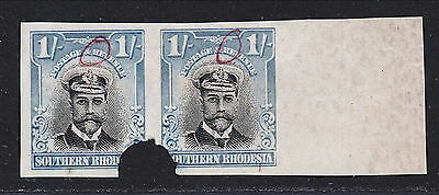 S.rhodesia 1924 Kgv Waterlow 1/ Imperforate Proofs Pair Mnh.  A145