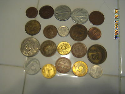 20 Foreign Coins  Combined Shipping Rates