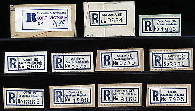 S.rhodesia Registered Labels Used On Piece.      A157