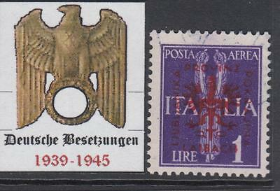 GERMANY REICH - 1944 occup (DT Besetzung) LUBIANA-LAIBACH Mi 24 cv 200$ used