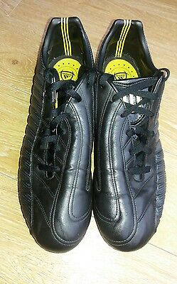 Adidas black grey & yellow moulded football boots size 12.5 UK (MENS)