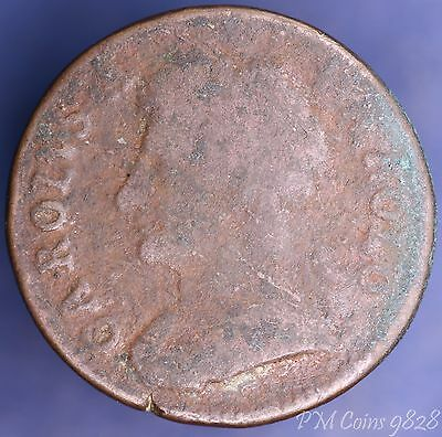 1672 farthing Charles II coin *[9828]